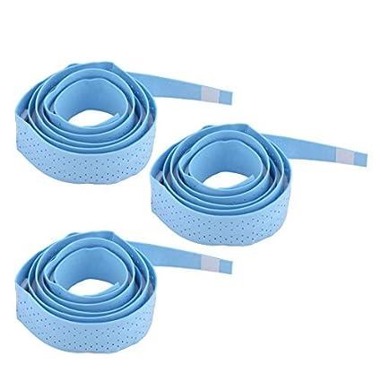 eDealMax espuma antideslizante raqueta de bádminton absorción del sudor Abrigo sobre Cinta de agarre 3 piezas