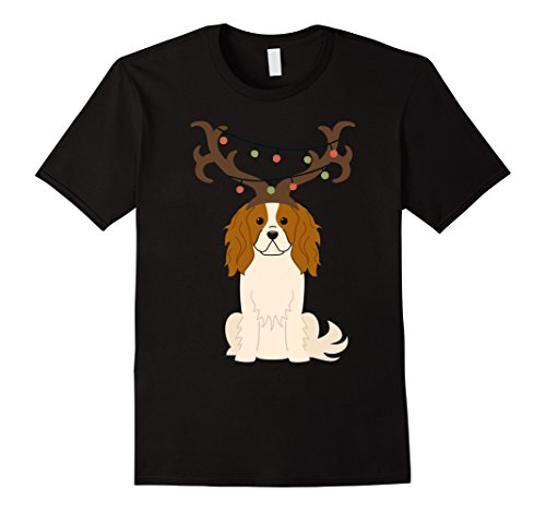 King Womens Light T-shirt - Cavalier King Charles Spaniel Reindeer Lights Gift Shirt
