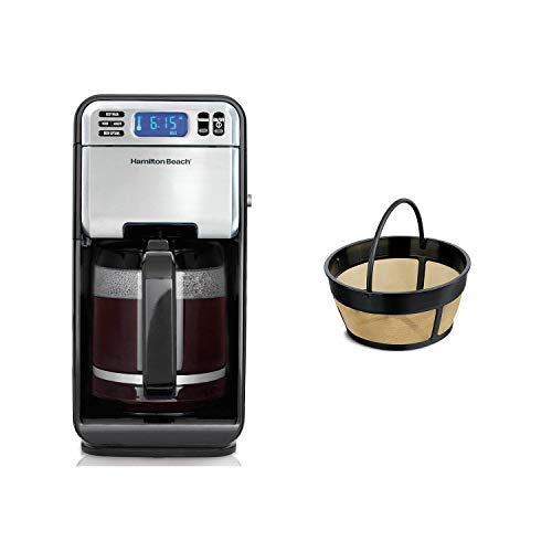 Hamilton Beach 12Cup Digital Automatic LCD Programmable Coffeemaker Brewer 46201Hamilton Beach 8-12 Cup Cupcake Permanent Coffee Filter for BrewStation Plus