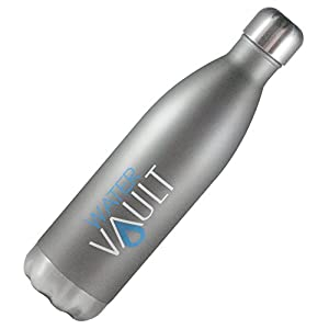 WaterVault Water Bottle - Insulated Vacuum Thermos Bottle - Cold 24hrs+, Hot 12hrs - Double Walled Copper Plated 18/8 Stainless Steel - 4 Sizes - Assorted Colors