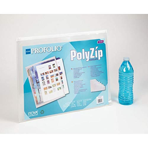 - ITOYA AZ-11-14 Polyzip Art Envelope 11X14In, Multicolor