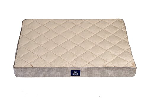 Serta Ortho Quilted Pillowtop Pet Bed, Large, Grey