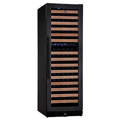 KingsBottle 164 Bottle Dual Zone Wine Refrigerator with Full Glass Door