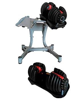 Set Mancuernas ajustable de 42 kg con soporte: Amazon.es: Deportes y aire libre