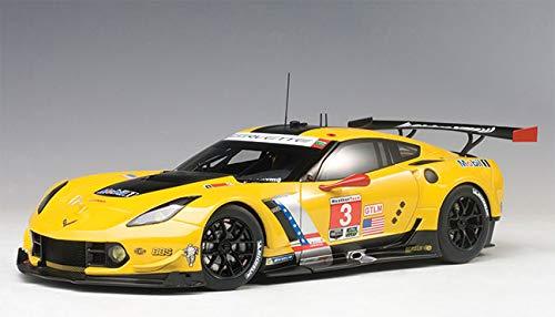 AUTOart Model Car Chevrolet Corvette C7R GTE Pro-Lime Rock 2016, 81607, 1: 18Scale Yellow/Black (18 Autoart Chevrolet Corvette)