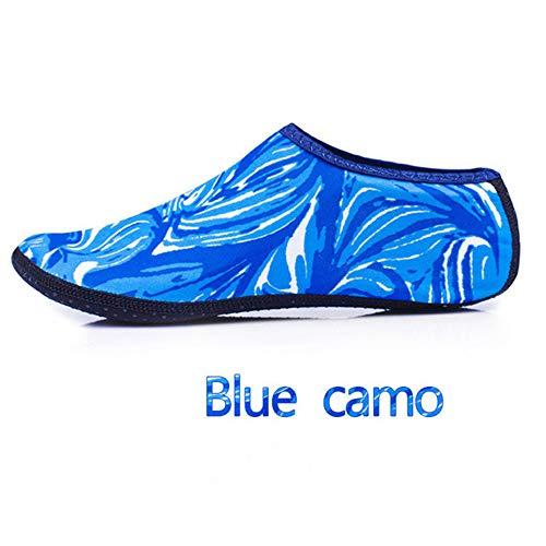 GEFANENR Zapatos De Buceo,Unisex Diving Sock Barefoot Water Blue Camo Sports Shoes Sock,Snorkeling Seaside Swimming Pool…