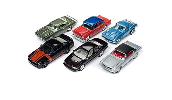 Amazon.com: New 1:64 AUTO WORLD JOHNNY LIGHTNING MUSCLE CARS USA COLLECTION - Muscle Cars USA 2017 Release 4 Series B Assortment Set of 6pcs Diecast Model ...