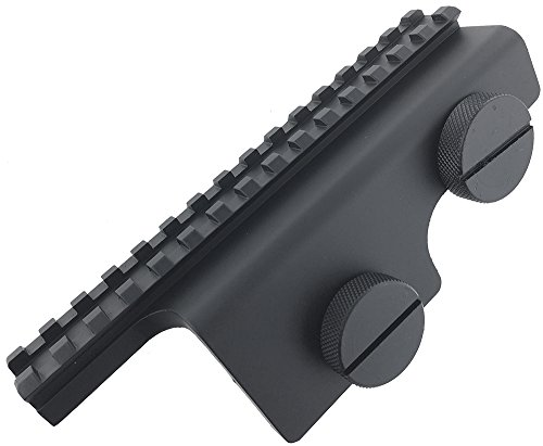 SportPro One Piece Design Metal Sight Support Weaver Rail for AEG GBB M14 Airsoft – Black