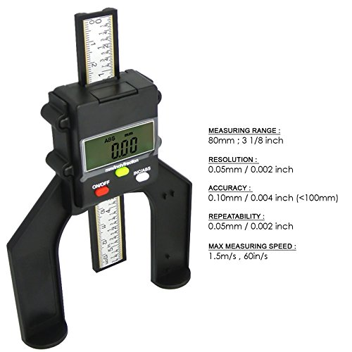 Digital Tread Depth Gauge Magnetic Self Standing Aperture 80mm Hand Routers by Gain Express by Gain Express (Image #6)