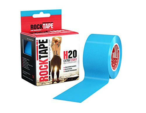 Rocktape Kinesiology Tape for Athletes - 2-Inch x 16.4-Feet, H2O Electric Blue