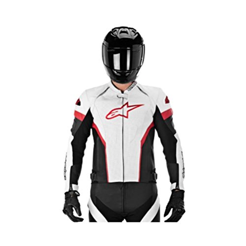 White And Black Motorcycle Jacket - 7