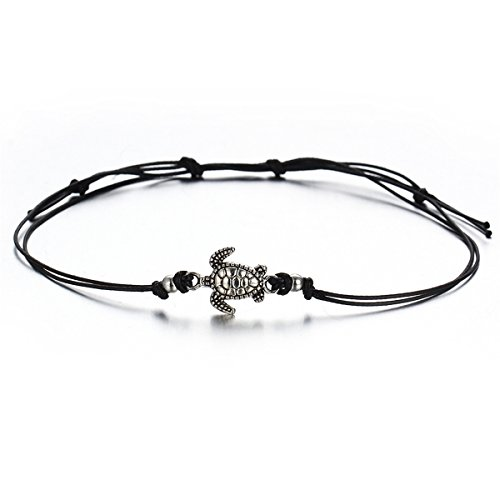 CH Multi Layers Anklets For Women Vintage Turtle Pendant Rope Anklet Animal Foot Ankle Sexy Beach Jewelry (Color2)