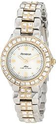 Armitron Women's 75/3689MPTT Swarovski Crystal Accented Two-Tone Dress Watch