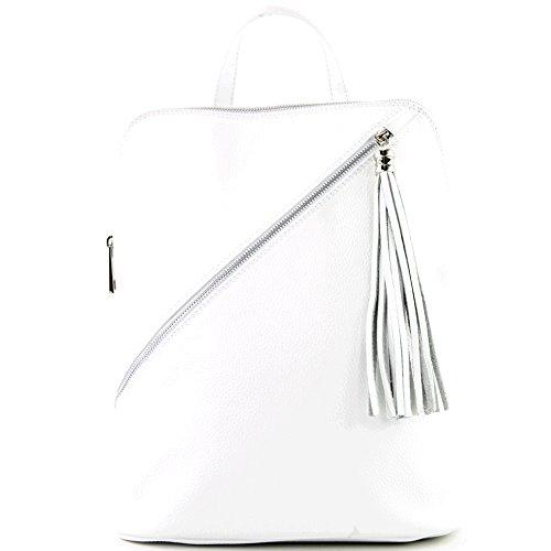 zaino in pelle zaino 3in1 zaino Citybag T141, Präzise Farbe (nur Farbe):T161 Weiß