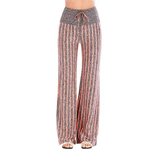 Pantaloni Soft Super Yoga Vita Hibote Con Palestra Per Coulisse Alta Da Striscia Fitness Sport Danza Harem Autunno Arancione Elasticizzati Donna Allenamento Di vTwwdzq