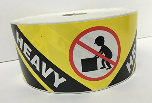 1 Roll LARGE 2-1/2x8-1/8 Yellow and Black HEAVY Special Handling Shipping Pallet Stickers 500 labels per roll]()