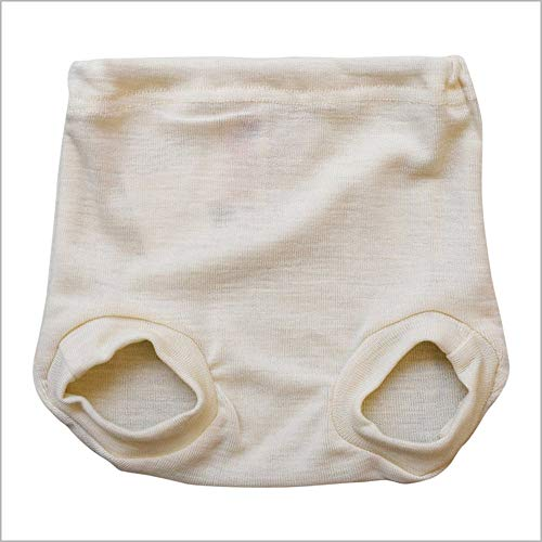 Pull on Diaper Cover for Baby Boys and Girls, 100% Organic Merino Wool Knit (62-68cm/ 3-6 months)