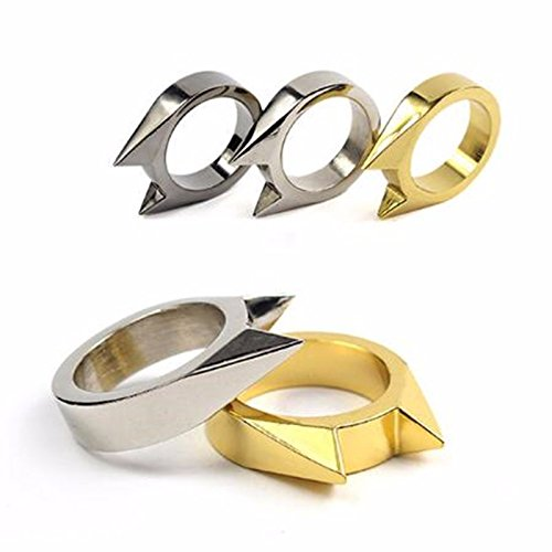 QIXINSTAR 5pcs Ring broken windows Alloy Defensive Ring Self Defense Weapons Broken Windows Device Rescue Gear Portable Survival EDC Tool