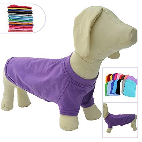 Lovelonglong 2019 Pet Clothing Dog Costumes Dachshund Clothes Blank T-Shirt Tee Shirts for Dachshund Dogs,Corgi 100% Cotton Purple D-XL