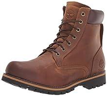 Timberland Men's Earthkeepers Rugged Boot, Medium brown full grain, 8.5 M US