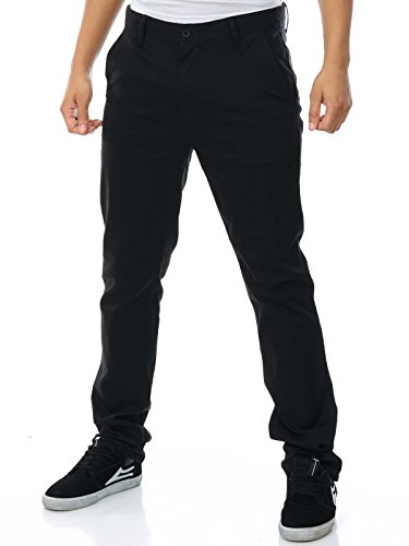 Pantalón Etnies E1 Slim Chino Negro (38 Cintura = Eu 52 , Negro)