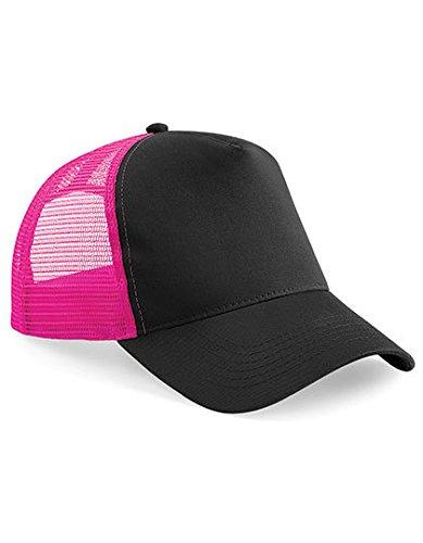 Beechfield Snapback rosa y negro Trucker OwwPHqpY
