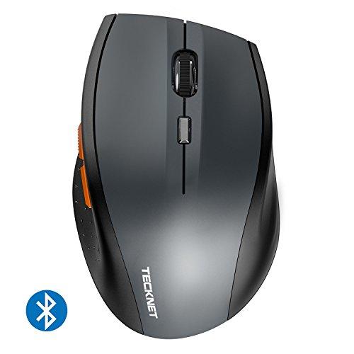 TeckNet Bluetooth Wireless Mouse, Grey (BM306)