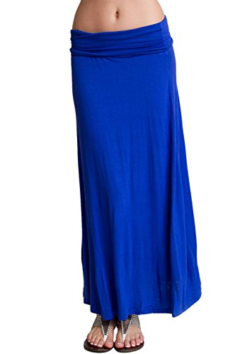 Price comparison product image Ladies Boing Blue Fold-Over Waist Maxi Skirt