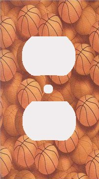 Basketballs Decorative Outlet Cover (Basketball Switchplate)
