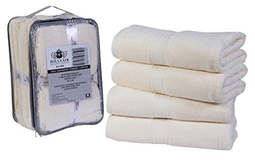Solid Combed Towel Set (4 Pack Cotton Bath Towels set- 600 GSM 100% Combed Cotton Bath Towel Set- 28