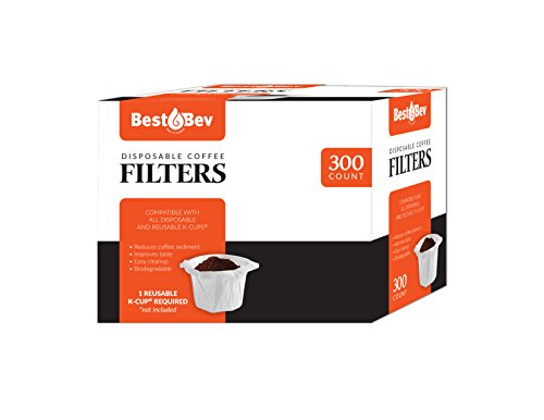 Party Bargains Disposable K-Cup Coffee Paper Filters for Keurig Single Serve Filter | Pack of 300 (Best K Cup Reusable Coffee Filter)