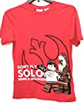 Star Wars Boys' Don't Fly Solo Lego Wookie Red Short Sleeve Graphic Tee (X-Large (14/16))