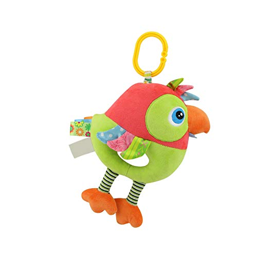 Infant Hanging Plush Toy Brian Development Toy Music Ringtone Toy For Car Or Bed Green Parrot