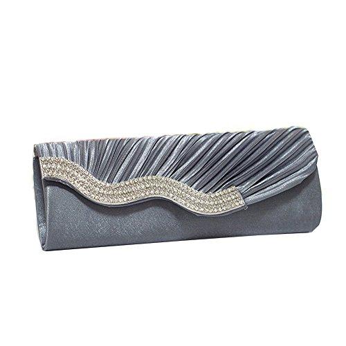 GSPStyle - Cartera de mano para mujer Gris gris talla única gris