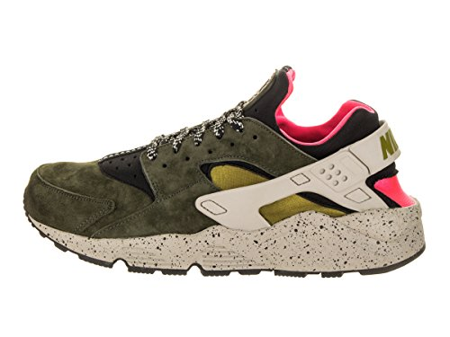 newest 1a91e 1309b Amazon.com  Nike Men s Air Huarache Run PRM Black Desert Moss Solar Red  Running Shoe 11 Men US  Sports   Outdoors
