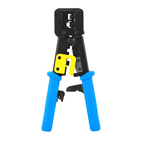 - RJ45 Crimp Tool Pass Through Crimper Ethernet Cable Connector Crimping Tool Ratcheting Hand Tools