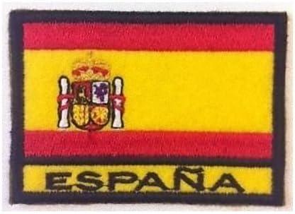 MAREL Patch Bandera España cm 7 x 5 Parche Bordado Bordado España ...