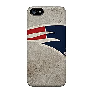 Bumper Hard Phone Case For Iphone 5/5s With Support Your Personal Customized High-definition New England Patriots Image LavernaCooney