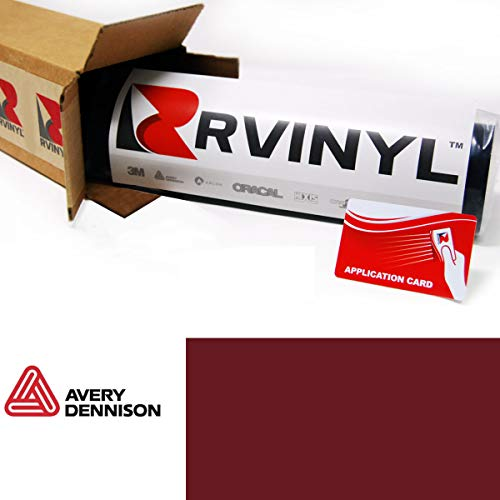 Avery SW900 475-O Gloss Burgundy Supreme Wrapping Film Vinyl Vehicle Car Wrap Sheet Roll - (12