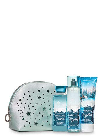 Bath and Body Works Sparkling Nights Sparkling Wonderland Cosmetic Bag Gift Set. ()