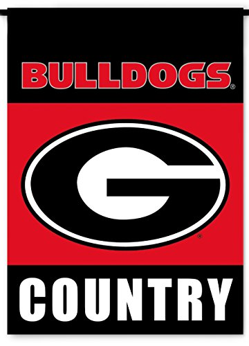 (NCAA Georgia Bulldogs 2-Sided Country Garden Flag, Team Color)