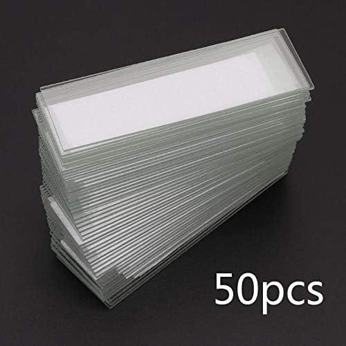 Without brand 50Pcs 1 mm Dicke Cavity Glasplättchen Einzel Concave Mikroskop Glasdias Wiederverwendbare Labor Blank Probe Deckglas