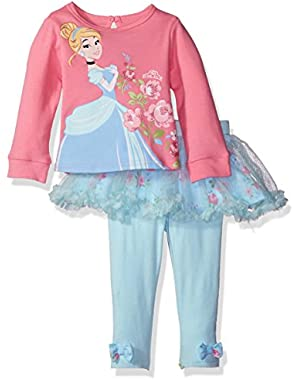 Baby Girls' 2-Piece Cinderella Skegging Chiffon Set