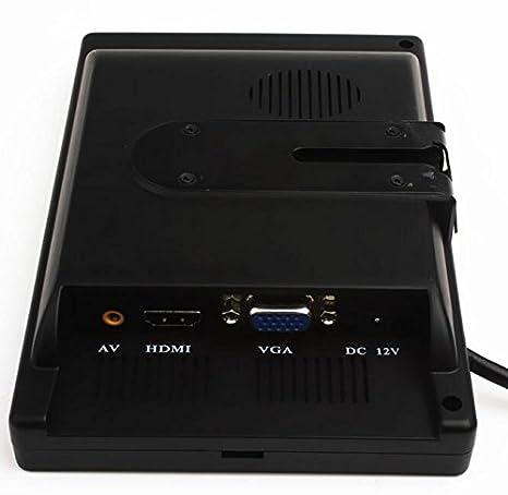 Vollfarb-LED-Hintergrundbeleuchtung Display-Unterst/ützung 1024 * 768 1280 * 1024 Eing 800 * 480 350: 1 Kontrastverh/ältnis 7 Zoll TFT Farbe LCD Auto Monitor Computer HD digitale VGA // AV-Schnittstelle Unterst/ützung als Computer-Bildschirm