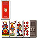 "Dal Negro: ""Bresciane Plastificate"" Traditional deck of playing cards regional Brescia with red case. Deck of 52 cards [ Italian Import ]"