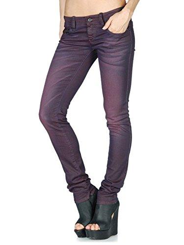 Diesel Mujer Jeans Skinny Grupee 0601F Burdeos
