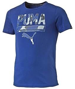 Puma-Camiseta de manga corta para niño, color azul añil Mazarine (talla 10 años 140)