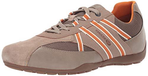 Geox Men's Ravex 3 Sneaker, Beige/Grey 45 Medium EU (12 US)