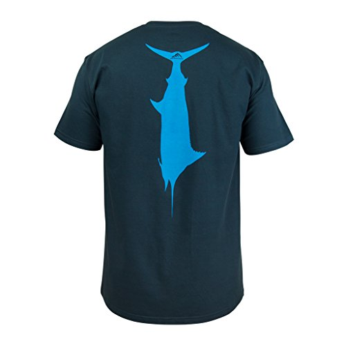 Wicked Catch T.C. Marlin Fishing T-Shirt (Navy Blue, 3XL)