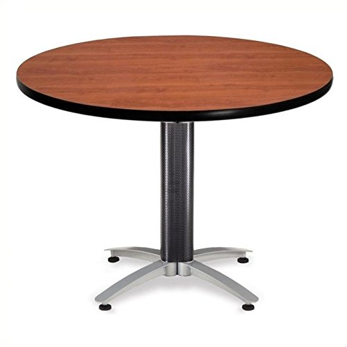 OFM KMT42RD-CHY Round Multi-Purpose Table, Metal Mesh Base, 42'', Cherry by OFM